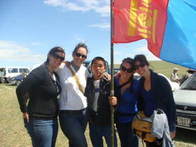 Attending Nadaam, a Mongolian summer festival, while serving in Peace Corps
