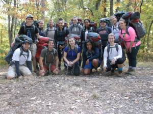 Pepsi Scholar students participate in a weekend backpacking trip.