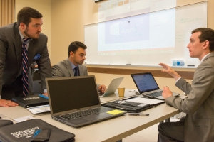 Photographs of the Ohio University College of Business hosting the Microsoft Pitch Challenge at Tupper Hall on the Ohio University campus in Athens, Ohio on Friday, September I I, 2015.  [Photograph by Joel Prince]